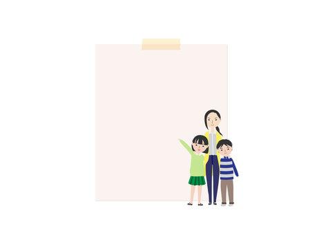 母子家庭な核家族のメッセージ素材2