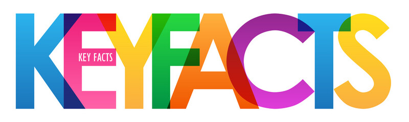 KEY FACTS colorful vector typography banner