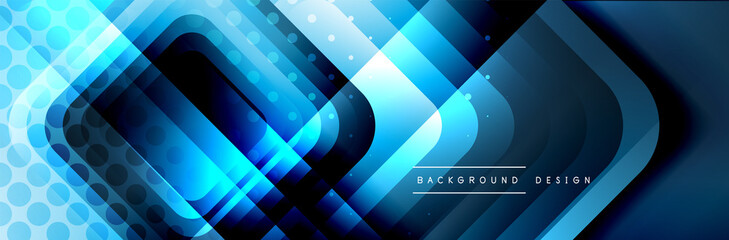Round squares shapes composition geometric abstract background. Vector Illustration Fotomurales