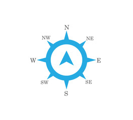 compass rose wind direction navigation position vector graphic design illustration