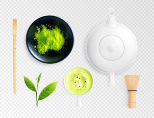 Matcha Tea Transparent Set