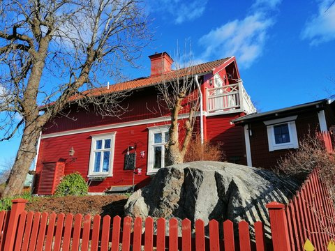 Swedish traditional red house