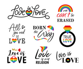 Pride sign rainbow colors gay lgbt Love