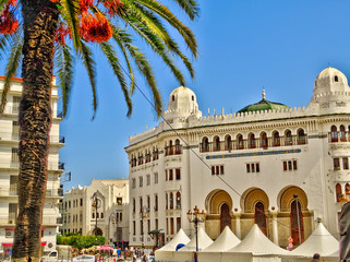 Wall Mural - Algiers colonial architecture, Algeria, HDR Image