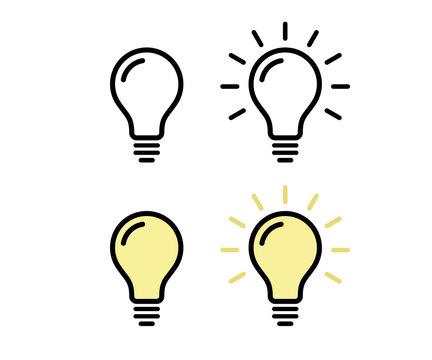 電球のアイコン/ピクトグラム/素材/電気