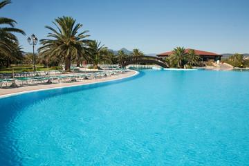 OROSEI. PROVINCE OF NUORO. SARDINIA. ITALY. 15 SEPTEMBER 2010 : Club hotel Marina Beach near Orosei. Province of Nuoro. Sardinia. Italy