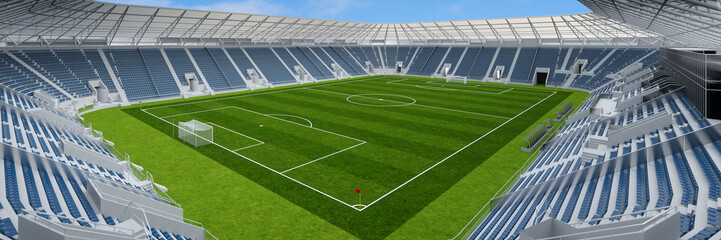 Leeres Fußballstadion wegen Covid-19 Ausgangssperre