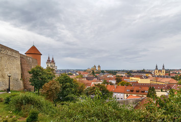 Fototapete - View of Eger, Hungary