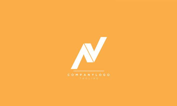 AV VA A V Letter Logo Alphabet Design Template Vector