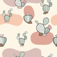Garden Poster Retro sign cute seamless pattern