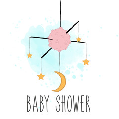 Garden Poster Retro sign baby shower card
