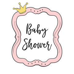 Poster Retro sign baby shower card