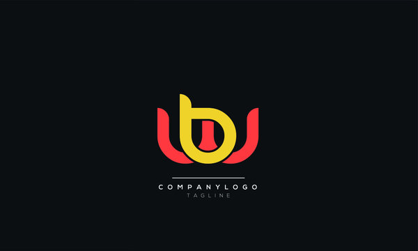 wb bw w b Letter Logo Alphabet Design Template Vector