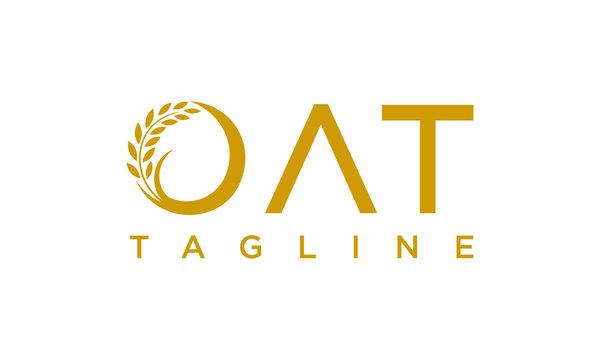 Oat for agriculture logo design concept editable