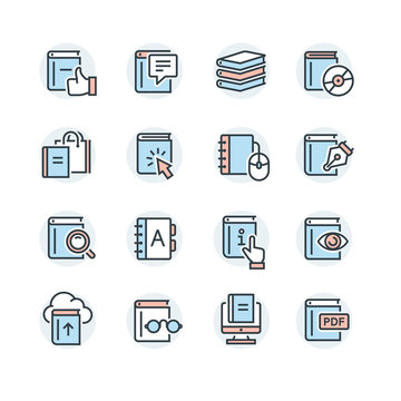 Set of book vector icons