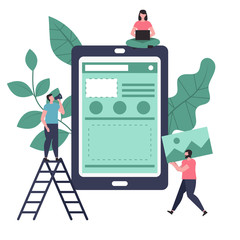 App development and design concept