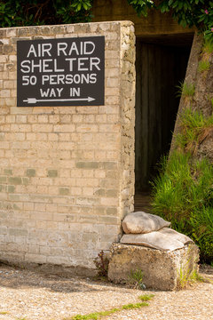 Entrance to a British World War Two public air raid shelter.