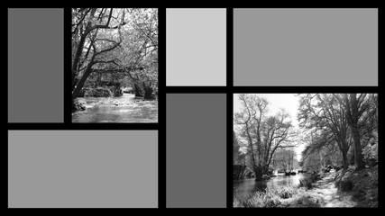 Fond écran HD organiseur décor nature noir et blanc