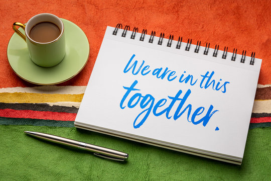 we are in this together - inspirational note