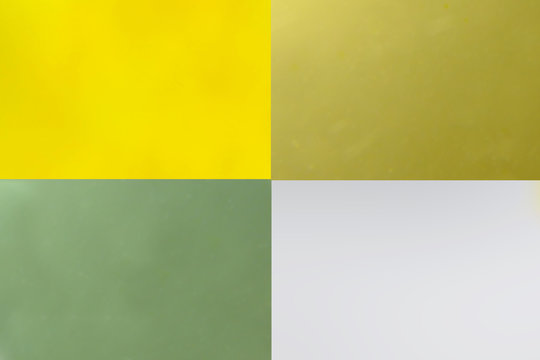 Four equal parts of color blurred out of focus
