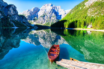 Lake Braies, Dolomite Alps, Italy
