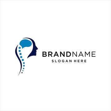 logo brain and spine, Creative Modern brain and spine logo design template