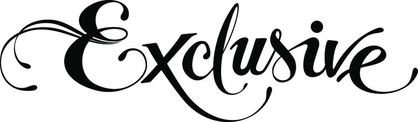 Exclusive - custom calligraphy text