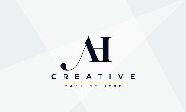 AH Letter Logo Design. Creative Modern A H Letters icon vector Illustration.