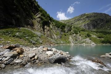 Aluminium Prints New Zealand Mountains & Lakes of Russian Caucasus