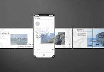 Minimalist Black and White Social Media Layout Set