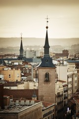 Wall Mural - Madrid rooftop view