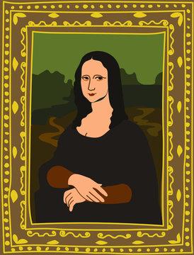 Portrait of Mona Lisa by Leonardo da Vinci