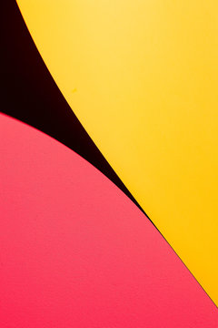 Yellow and Pink Bright Background with Shadow