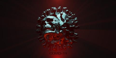 COVID19 deadly virus Novel Coronavirus SARS-CoV-2, 3d render