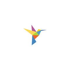 Fototapeta Simple Bird Logo many colors