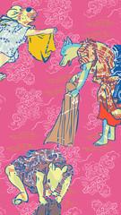 浮世絵 動物 カラフル