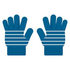 ボーダー柄の手袋
