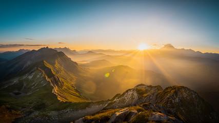 Papiers peints Taupe Vue sur le Mont-Blanc du Mont Charvin