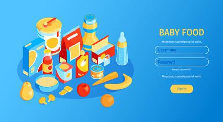 Baby Food Horizontal Banner