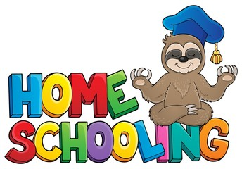 Canvas Prints For Kids Home schooling theme sign 4