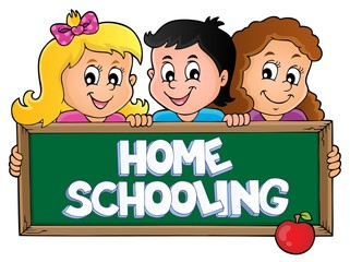 Canvas Prints For Kids Home schooling theme sign 5