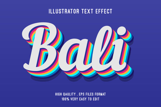 Editable text effect - Colorful layered style effect