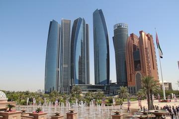 Foto auf AluDibond Abu Dhabi Abu Dhabi, ethiad towers