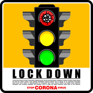 Lockdown Coronavirus Pandemic, Poster and Banner