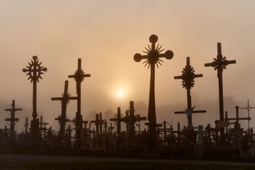 Hill of Crosses (Kryziu kalnas), a famous site of pilgrimage in northern Lithuania.
