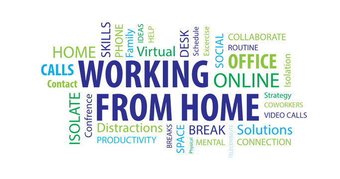 Working From Home  Word  Cloud