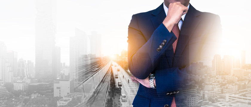 Background of executive leadership futuristic vision lead recover business due to disrupt coronavirus crisis business finance economic depressions. Strategy change transform with innovation technology