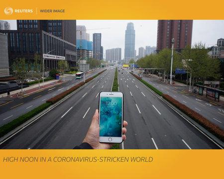 The Wider Image: High noon in a coronavirus-stricken world