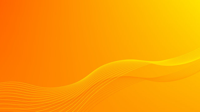Abstract wave background. Digital frequency stripe. Waved lines for brochure and flyer design. Dynamic smoke wave. Curved wavy line. Vector gradient orange background