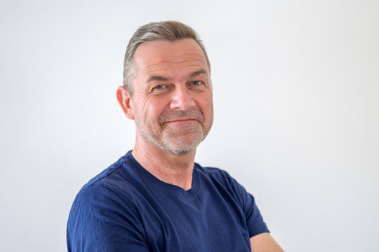 Smiling friendly attractive middle-aged man